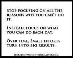 Fokusera på effektiv viktminskning